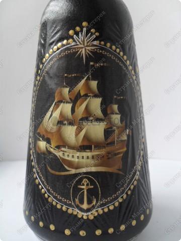 """Вот такая классика... был заказ на """"Адмиралтейский графинчик""""... Я решила: золотой фрегат и ничего лишнего... строго и дорого.. фото 3"""