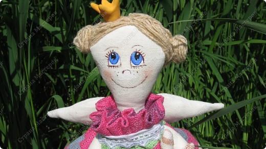 Принцесса на горошине для дочки.Давно хотела сшить эту куколку,вот наконец появилось время и желание осуществилось. фото 3