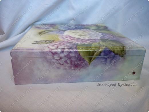 Шкатулка большая и очень вместительная. Использовала рисовую карту и худож.дорисовка. фото 3