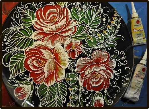 Преображение старой тарелки фото 7
