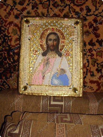Рама паспарту Вышивка Риза на икону Бисер фото 2.
