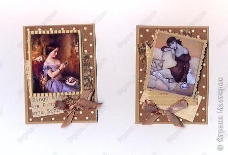"""Решила  здесь собирать свои кофейные открытки и карточки, которые появятся этим летом :)) Получила недавно от Марины (ШМыГа) и Светланы (Россиянка) именно то, что мне надо для кофейного творчества. СПАСИБО!!! И приступила :))) Это открытка (двойная).  Начало """"кофейного строительства"""" - маленький домик :))  фото 5"""
