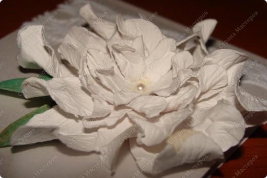 Выражаю огромную благодарность Светлане за подробный МК цветов гардении http://stranamasterov.ru/node/321021?c=favorite Делюсь своими успехами фото 1