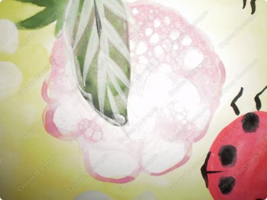 букет-маме!использовала:акварель,для фона,на губку нанесла гуашь,сделала штамповку,несколькими цветами-и вот СИРЕНЬ! фото 18