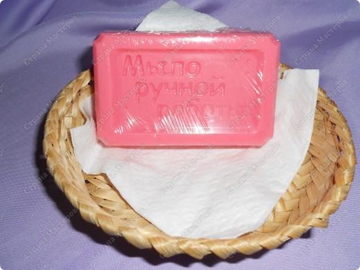 Здрасте всем, я с новыми мылками. Для дочкиной подружки нужен был подарок, решили сделать мыло. Получился вот такой вот кусочек.  фото 1