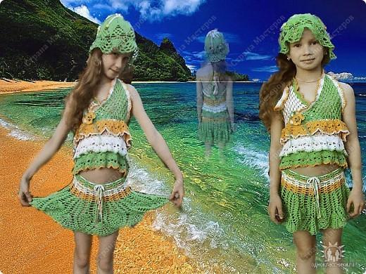 Шапочка и платье для Полины фото 3