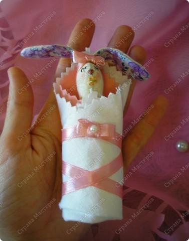Вот такая Зайка-оберег,для новорожденной малышки! Мама-25см,малышка-8см. фото 5