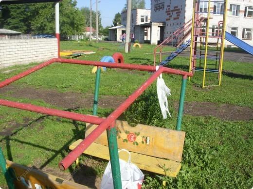 Вот такую крышу сшила на мини-беседку для деток в детский сад на участок фото 2