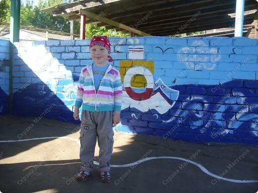 Вот такую крышу сшила на мини-беседку для деток в детский сад на участок фото 6