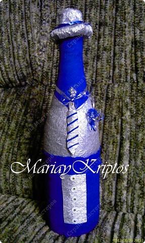 Свадебная бутылка (жених) фото 1