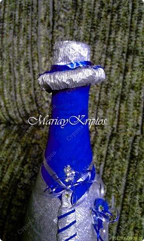 Свадебная бутылка (жених) фото 4