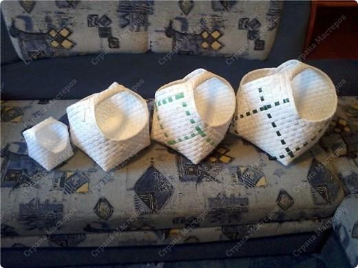Поделка изделие Плетение Плетение из упаковочной полипропиленовой стреппинг ленты Полиэтилен фото 1