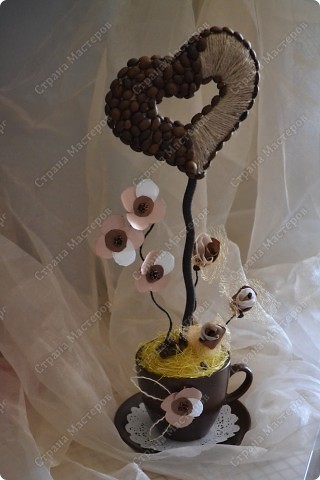 Кофейное сердце.