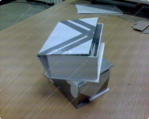 вот такие коробочки для мелочевки ( 4х7) у меня получились, обычно их делают большие формата А 4 для хранения документов фото 3