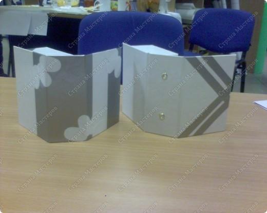 вот такие коробочки для мелочевки ( 4х7) у меня получились, обычно их делают большие формата А 4 для хранения документов фото 2