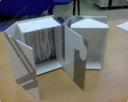вот такие коробочки для мелочевки ( 4х7) у меня получились, обычно их делают большие формата А 4 для хранения документов фото 1