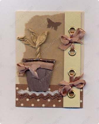 """Решила  здесь собирать свои кофейные открытки и карточки, которые появятся этим летом :)) Получила недавно от Марины (ШМыГа) и Светланы (Россиянка) именно то, что мне надо для кофейного творчества. СПАСИБО!!! И приступила :))) Это открытка (двойная).  Начало """"кофейного строительства"""" - маленький домик :))  фото 8"""