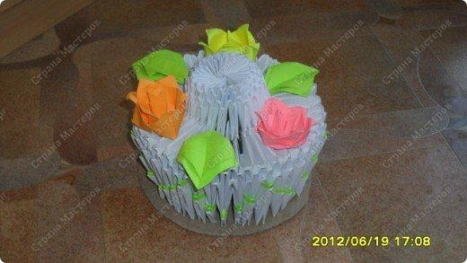 Здраствуйте я вам покажу фото своего тортика, я знаю что это не мк но не судите строго. фото 1