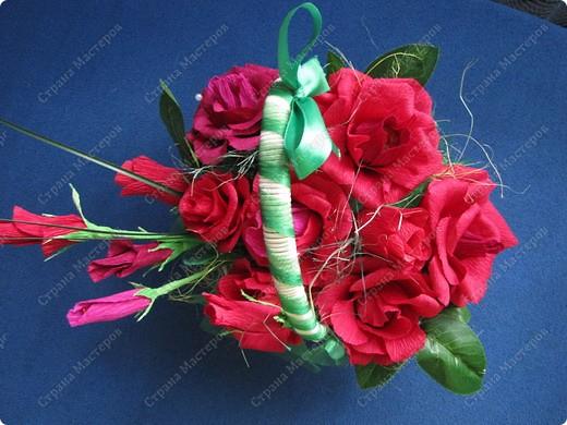 Корзина конфетных роз