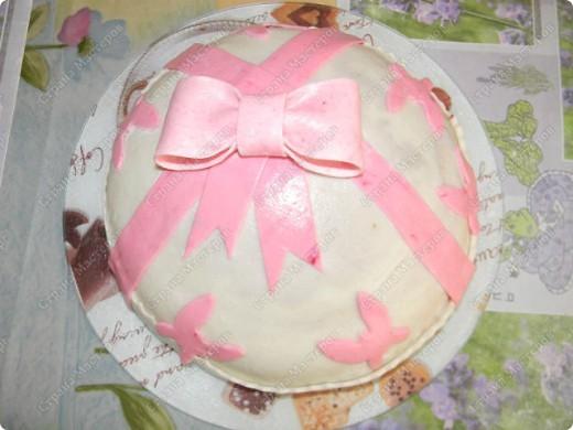 Тортик.....первое знакомство с мастикой... фото 1