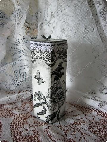 Любимые салфетки, их я использовала и в открытках    https://stranamasterov.ru/node/379531   фото №8         Подставка под горячее и баночка из- под чая для чая :) или еще для каких-нибудь сыпучестей. фото 3