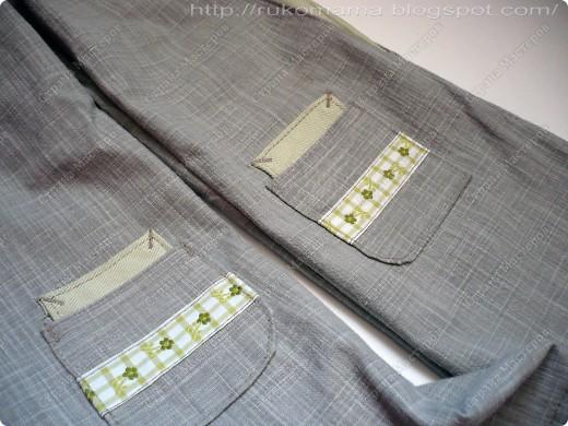 Эти брюки перешиты из моих старых. Завалялись у меня брюки из плотного льна, я их практически не носила. Вот и решила перекроить их для Маруси.  фото 4