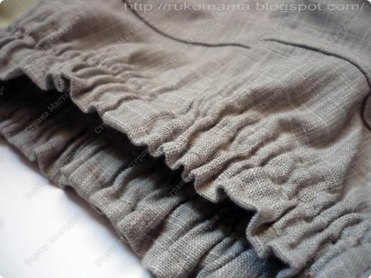Эти брюки перешиты из моих старых. Завалялись у меня брюки из плотного льна, я их практически не носила. Вот и решила перекроить их для Маруси.  фото 6