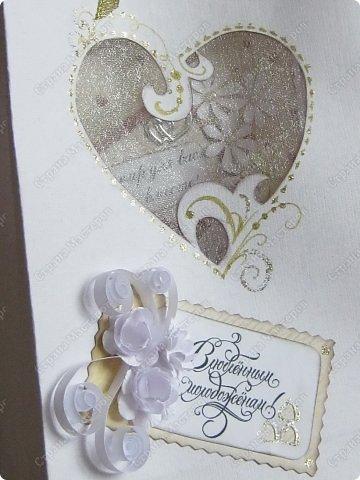 Открытка на заказ.Основа - бумага для акварели, фон  - скрапбумага. Цветы крупные (текстильные и бумажные) самодельные. Мелкие - дырокольные фото 5