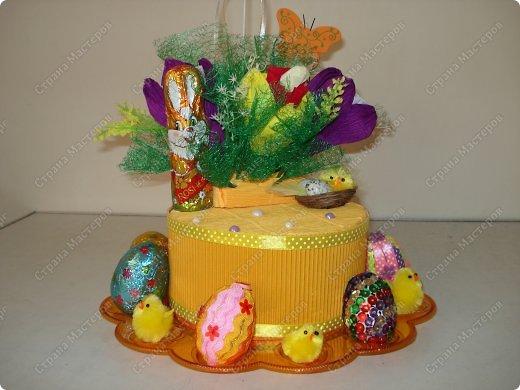 Поделка с шоколадными яйцами 596