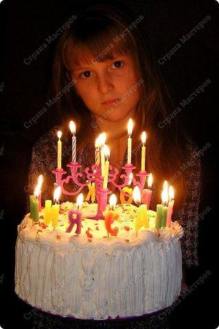 Хотя,  и выпал  День рождения дочери на  будний рабочий день (30 сентября), но как же  без главного десерта!  Вот  и  посторалась  мамочка,для   любимого дитяти! А любит  мой ребенок в основном  тортики  бисквитные. фото 16