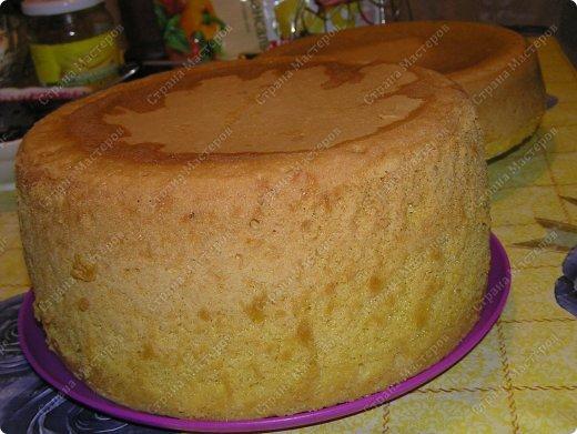 Хотя,  и выпал  День рождения дочери на  будний рабочий день (30 сентября), но как же  без главного десерта!  Вот  и  посторалась  мамочка,для   любимого дитяти! А любит  мой ребенок в основном  тортики  бисквитные. фото 2