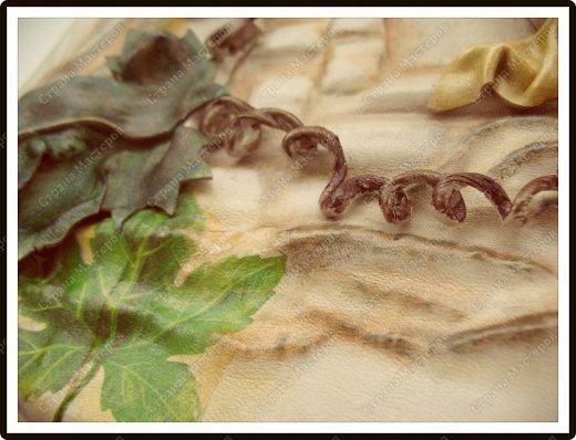 Декор предметов Мастер-класс Ассамбляж Ключница-панно из кожи -'Молдавский дворик   Дерево Картон гофрированный Клей Кожа Краска Салфетки фото 7