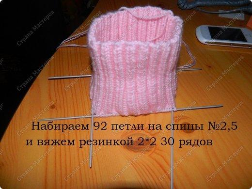 Вязание манишки 2 спицами для детей