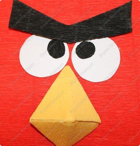 Красная птичка из семейства Angry Birds. Сделала ее в подарок маленькой принцессе - любителю злых птичек. фото 6