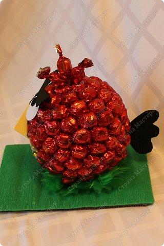 Красная птичка из семейства Angry Birds. Сделала ее в подарок маленькой принцессе - любителю злых птичек. фото 11