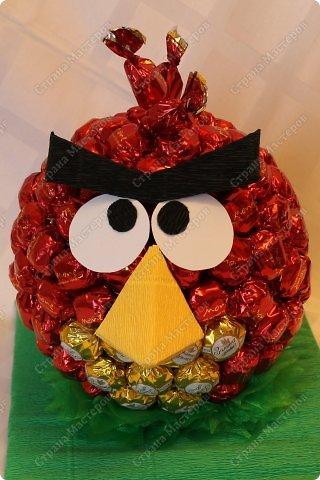 Красная птичка из семейства Angry Birds. Сделала ее в подарок маленькой принцессе - любителю злых птичек. фото 12