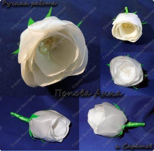 Мастер-класс Цумами Канзаши МК моей розы из ленты Ленты фото 1