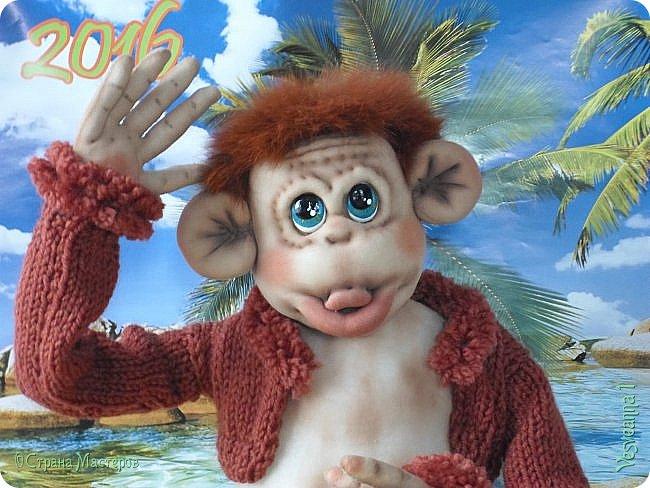 Здравствуйте всем , кто заглянул в гости! Встречайте, у меня новый гость! Жила-была обезьянка.( не знаю как ее зовут). фото 16