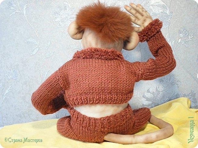 Здравствуйте всем , кто заглянул в гости! Встречайте, у меня новый гость! Жила-была обезьянка.( не знаю как ее зовут). фото 6