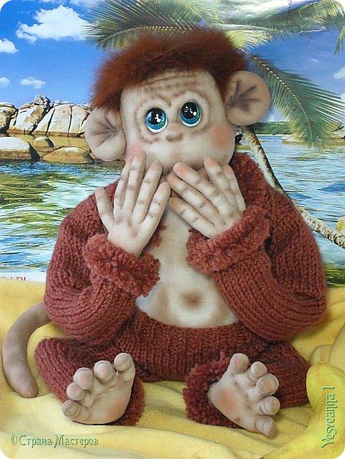 Здравствуйте всем , кто заглянул в гости! Встречайте, у меня новый гость! Жила-была обезьянка.( не знаю как ее зовут). фото 8