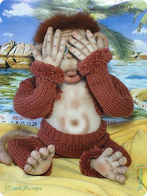 Здравствуйте всем , кто заглянул в гости! Встречайте, у меня новый гость! Жила-была обезьянка.( не знаю как ее зовут). фото 9