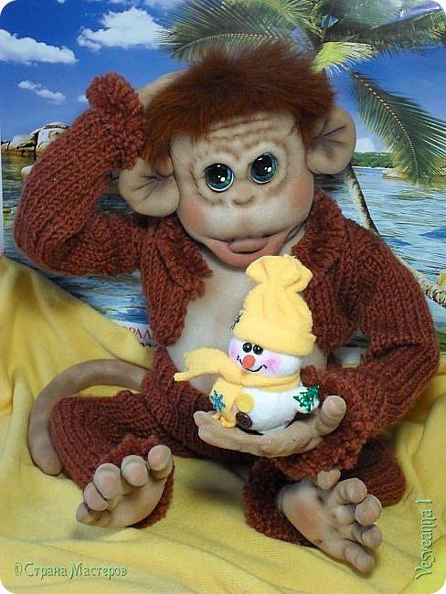 Здравствуйте всем , кто заглянул в гости! Встречайте, у меня новый гость! Жила-была обезьянка.( не знаю как ее зовут). фото 11