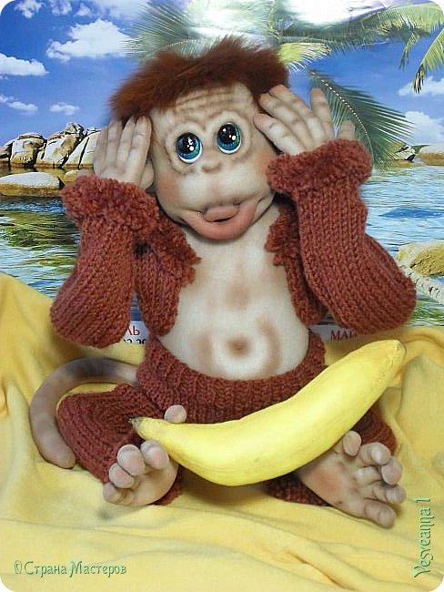Здравствуйте всем , кто заглянул в гости! Встречайте, у меня новый гость! Жила-была обезьянка.( не знаю как ее зовут). фото 7
