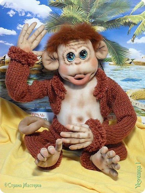 Здравствуйте всем , кто заглянул в гости! Встречайте, у меня новый гость! Жила-была обезьянка.( не знаю как ее зовут). фото 15