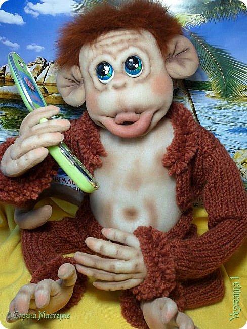 Здравствуйте всем , кто заглянул в гости! Встречайте, у меня новый гость! Жила-была обезьянка.( не знаю как ее зовут). фото 13