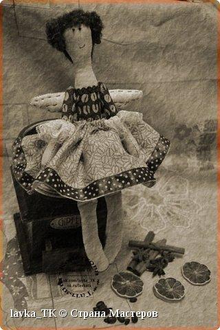 благодаря книжке с МК Nkale родилась такая кофейная феечка с маленькой моей изуминкой) Рада всем,кто заглянул и оценил мой дебют)). фото 3