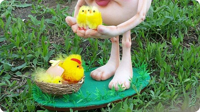 Здравствуйте все, кто заглянул в гости!  Захотелось сделать к Пасхе яйцо в чулочной технике. фото 10