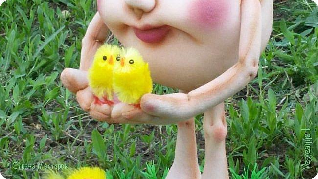 Здравствуйте все, кто заглянул в гости!  Захотелось сделать к Пасхе яйцо в чулочной технике. фото 11
