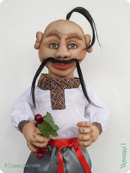 Доброго времени суток всем! Сшила куколку по мастер-классу Светланы Лазаревой. Первый раз попробовала сделать стеклянные глазки с ресницами. фото 3