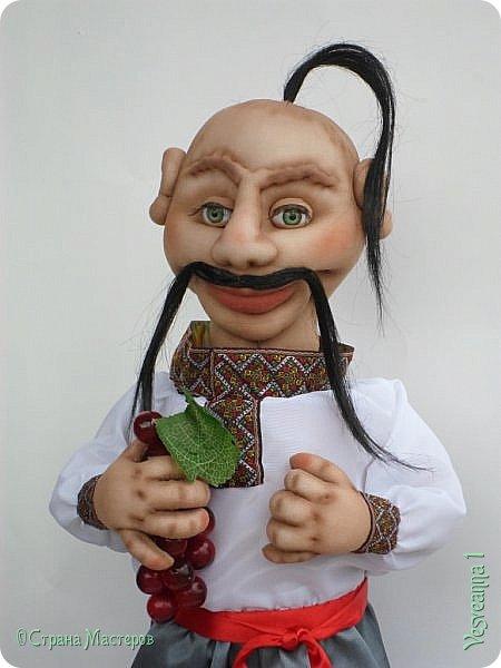 Доброго времени суток всем! Сшила куколку по мастер-классу Светланы Лазаревой. Первый раз попробовала сделать стеклянные глазки с ресницами. фото 4